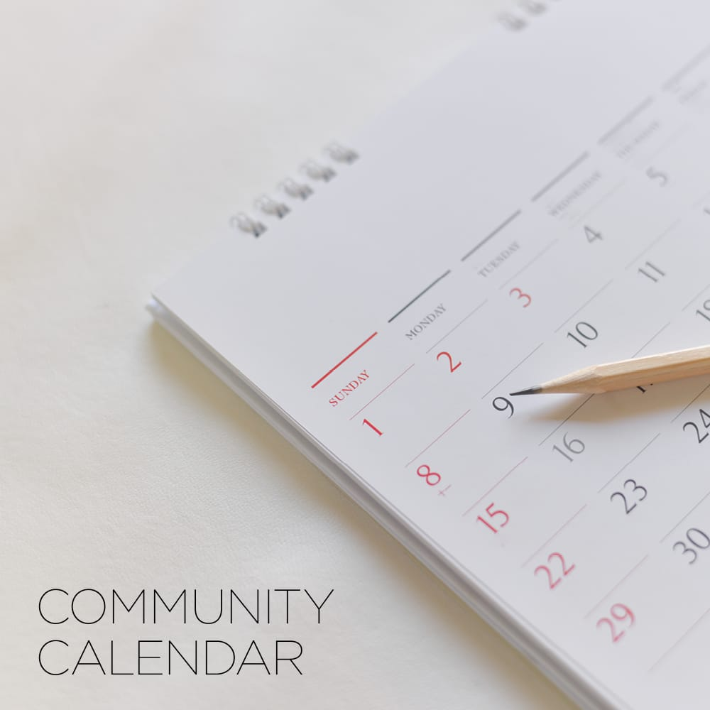 View or add to our Community Calendar
